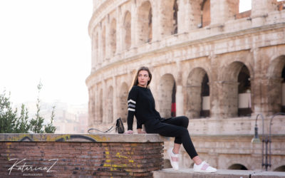 Senior's photoshoot with Anastasia at Colosseo