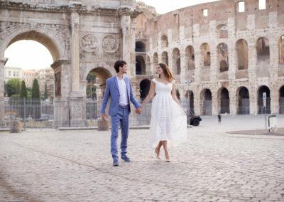 photoshooting rome colosseo фотосессия в риме фотограф в италии