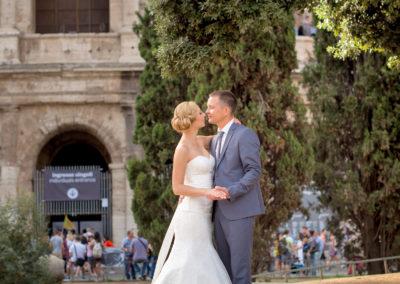 wedding italy rome colosseo brideфотосессия в риме фотограф в италии