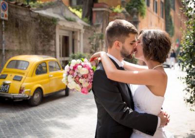 wedding photo photographer Rome Italy fiat 500 katerinaz