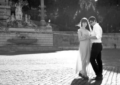 wedding photo photographer Rome Italy piazza del popolo