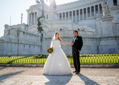 wedding photo photographer Rome Italy piazza venezia
