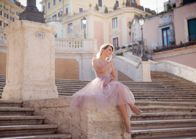 wedding photo photographer Rome Italy spanish steps