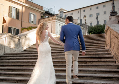 wedding photo photographer Rome Italy spanish steps piazza di spagna