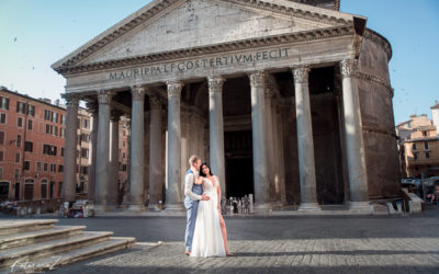 Post-wedding photography session in Rome