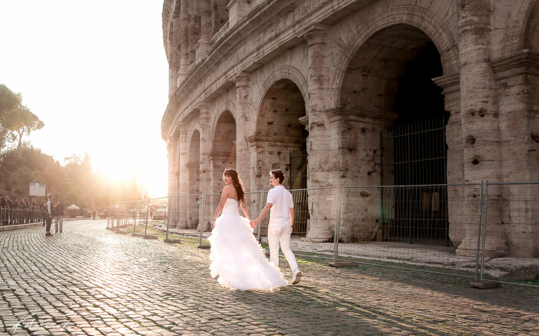 Elopement photoshoot in Rome
