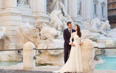 Italy elopement, Fontana di Trevi