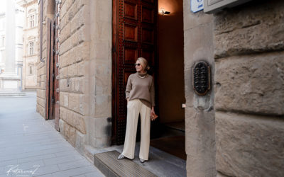 Fashion shoot in Florence, Italy