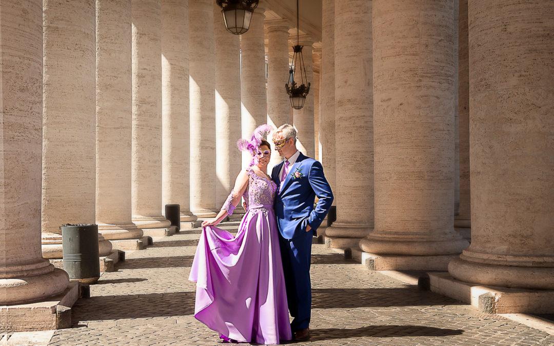Anniversary photo shooting in Rome