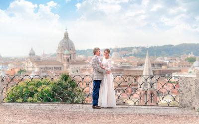 Romantic elopement in Rome