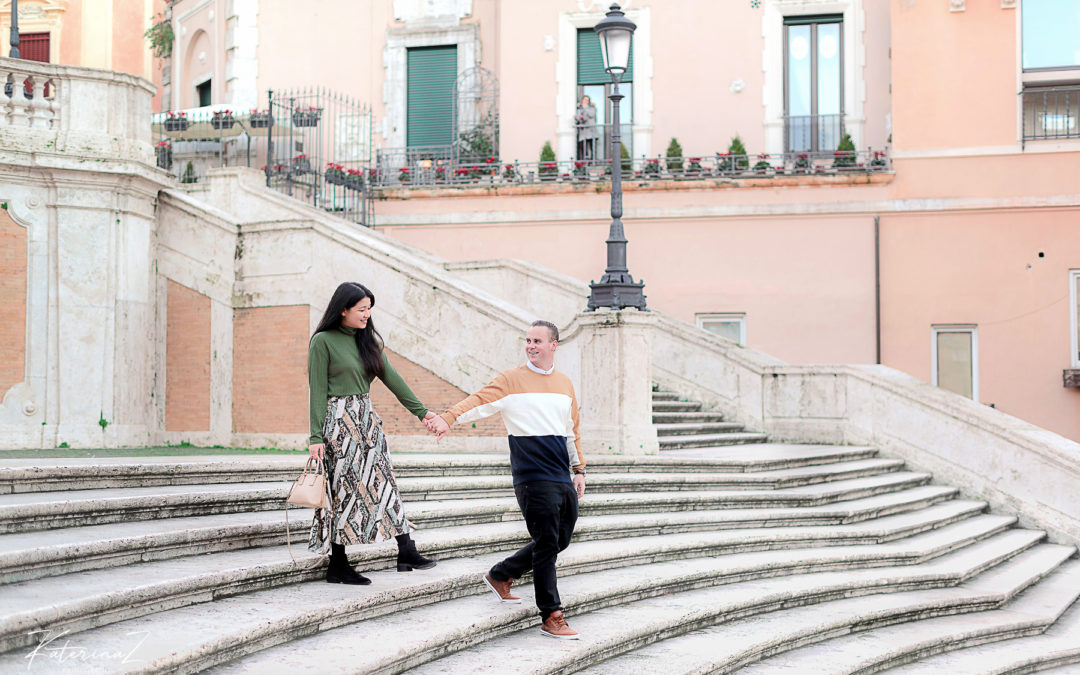 Kathrin & John prewedding photos in Rome