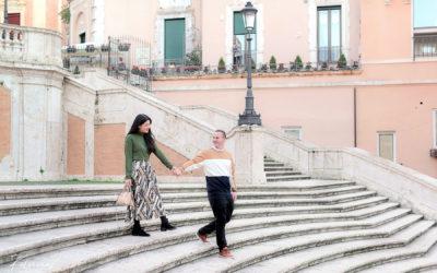 Kathrin & John prewedding photos in Rome