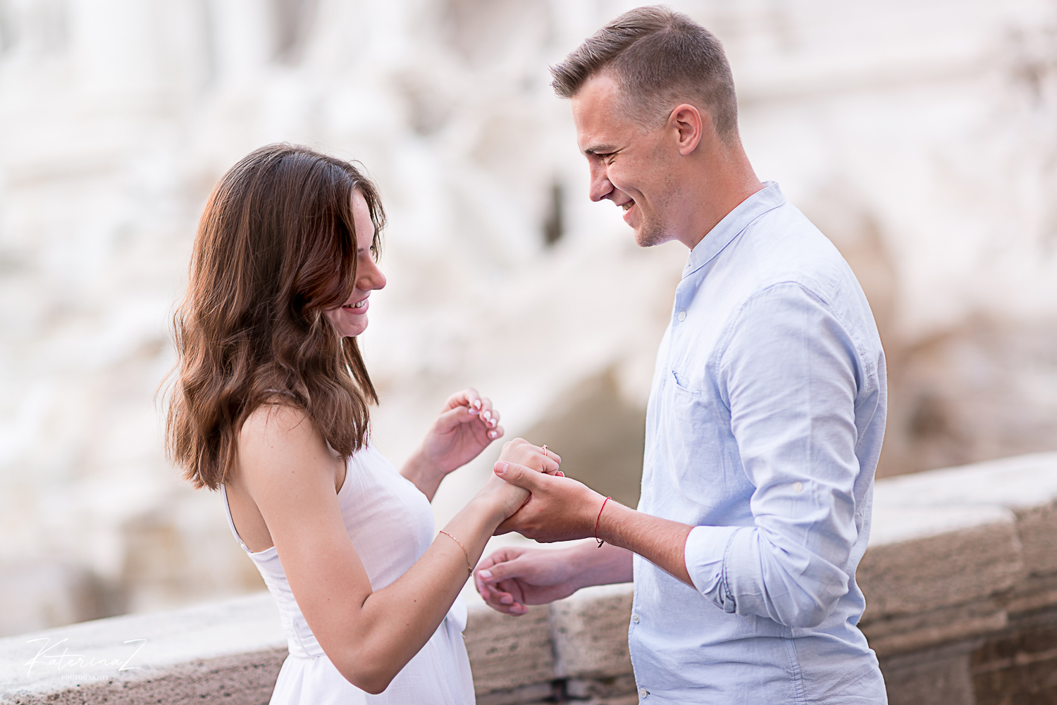 Surprise proposal in Rome
