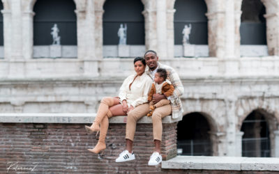 Family photoshoot in Rome. Colosseo and Roman Forum